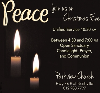 Peace Join Us On Christmas Eve