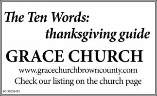 The Ten Words: Thanksgiving Guide