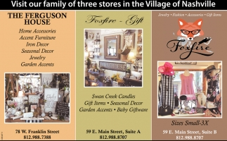 Visit Our Family Of Three Stores In The Village Of Nashville