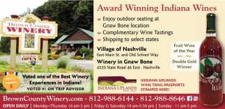 Award Winning Indiana Wines