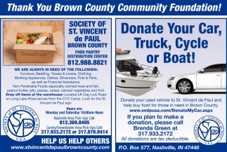 Thank You Brown County Community Foundation!