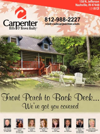 Front Porch To Back Deck... We've Got You Covered