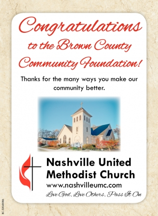 Congratulations To The Brown County Community Foundation!