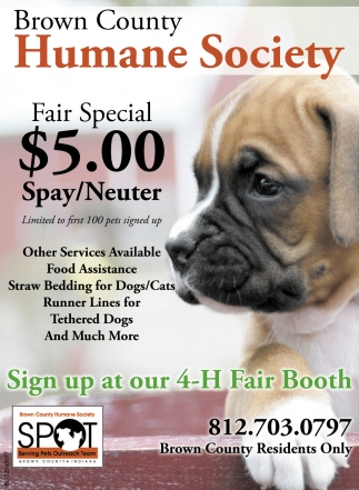 Fair Special $5.00 Spay/Neuter